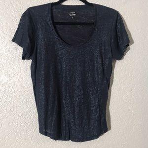 J.Crew Blue Shimmer T-Shirt
